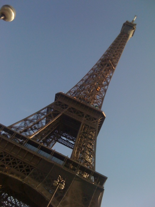 The Eiffel Tower too big to fit in my veiw finder