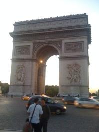 Everyone else's view of the arc de Triomphe