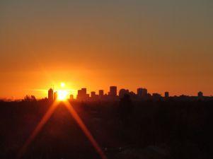 edmonton sunset