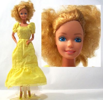 Quick Curl Barbie the next day