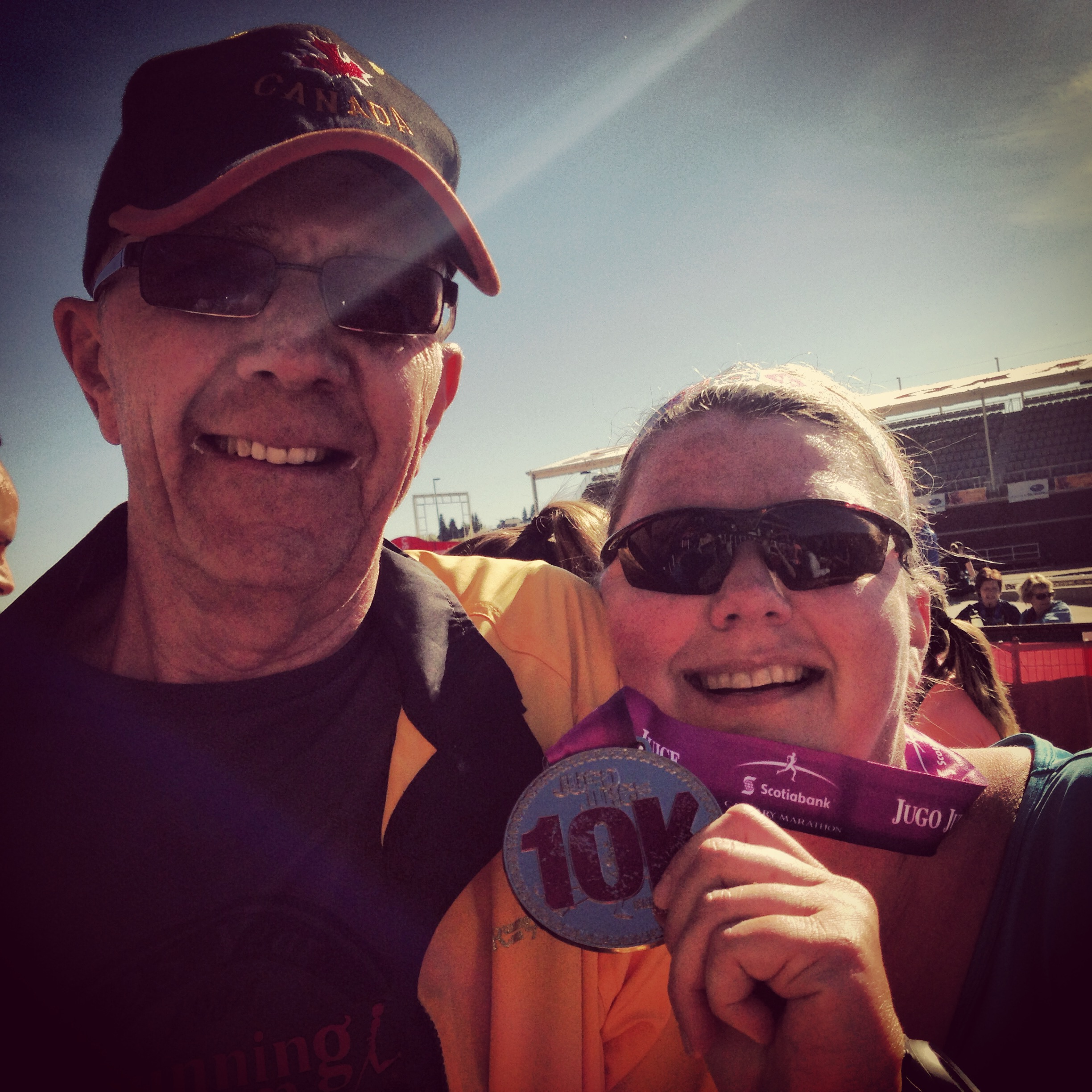 Me and Dadeo at the finish