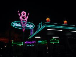 Radiator Springs after dark
